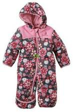 NWT $80-Girls Rugged Bear Pink Floral Hooded Winter Snowsuit-sz 0/3 & 3/6 mths