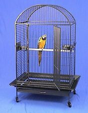 """4 Color, 36""""x26""""x64""""H DomeTop Wrought Iron Parrot Cage With Extra Strong Wire"""
