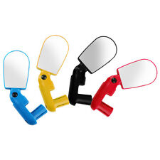 New Mini Rotate Flexible Bike Bicycle Cycling Rearview Handlebar Mirror HY