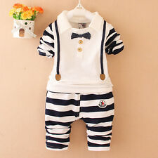 2017 New Baby Sets Spring/Autumn 2pcs Suit Stripe Girls Cute Clothing Sets