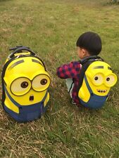 Minion Rolling Suitcase Bag Sets Luggage Trolley ABS Bag travel Kids School Bag