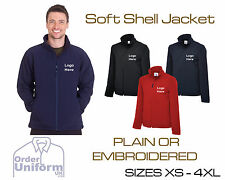 Personalised Uneek Soft Shell Jacket Workwear Coat Text or Logo Package UC612
