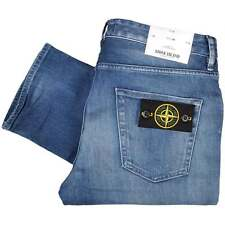 Stone Island 6615J2ZN4 Used Skinny Fit Stone Wash Jeans