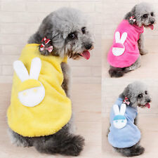 New Coral Fleece Pet Dog Clothes Apparel Cute Rabbit T-Shirt Size S-XL