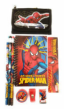 Spider-Man Wallet with Stationary Bundle Boys Gift Set Back to School