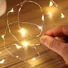 2/5/10M Button Battery Operated LED Copper Wire String Fairy Lights Xmas Party*X