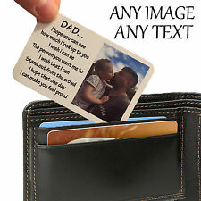 Personalised Aluminium Wallet Card Keepsake Purse Mum Dad Image Photo Text Gift