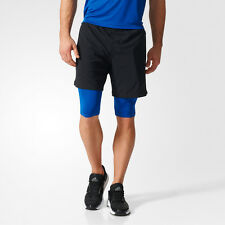 Adidas Speed 2-in-1 Mens Black Climacool Training Shorts Pants Bottoms