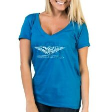 INDIANAPOLIS MOTOR SPEEDWAY LADIES OCEANBERRY V-NECK TEE SHIRT INDY 500