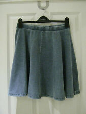 Topshop high-waisted denim look skater skirt BRAND NEW WITH TAGS various sizes