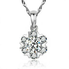 FASHIONS FOREVER® 925 Sterling Silver Snowflake AAA-Zirconia Necklace-Pendant