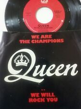 QUEEN We Are The Champions / We Will Rock You ELECTRA RECORDS 45 NM