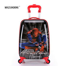 Marvel Spiderman Rolling Suitcase Children Luggage Trolley ABS Kids Bag Travel