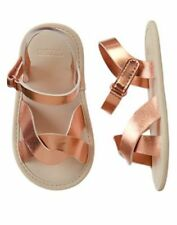 NWT Gymboree Rainforest Crawl Gold Crib Sandals Shoes Infant Baby Girl 2,3,4