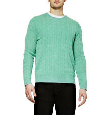 Brand New With Tags Ralph Lauren Silk-blend Cable Knit Jumper Green Large