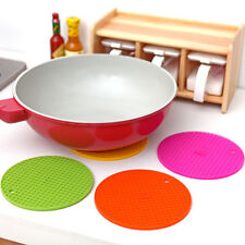 Round Silicone Non-slip Heat Resistant Mat Coaster Cushion Placemat Pot Holders