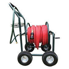 Garden Hose Cart Trolley Steel Reel Heavy Duty Powder Coated Steel Fire Hose