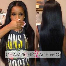 Lace Front Human Hair Wigs Yaki Straight Indian Remy Full Lace Wig 14-22 Inches