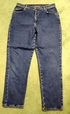 Riders womens size 16m denim blue jeans waist 34 inseam 30 straight leg