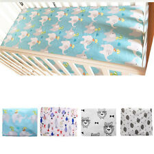 Infant Nursery Baby Boy Girl Crib Fitted Sheet Cot Bedding Sheets Dust Ruffles