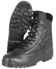 MIL-COM RECON BOOTS SIDE ZIP LEATHER TACTICAL COMBAT ARMY SECURITY CADET MENS