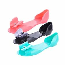 Ladies flat Jelly sandals with butterfly detail