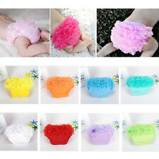 Baby Girls Toddler Tulle Ruffle Bloomers Diaper Nappy Cover Panties Shorts 3-24M