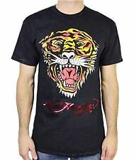 NEW ED HARDY EH TIGER MENS SHORT SLEEVE CREW NECK T-SHIRT BLACK MINERAL TEE