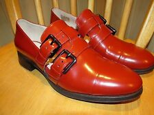 NEW Clarks leather shoes LOAFERS Womens BUSBY FAYRE Red Size UK 7 D RRP £70