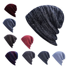 Hot Mens Ladies Knitted Woolly Winter Oversized Slouch Beanie Hat Cap Unisex