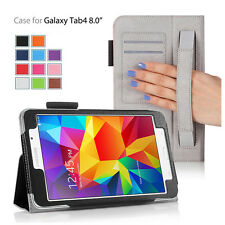 """Folio Flip Wallet Protect Case Cover With Stand For Samsung Galaxy Tab 4 8.0"""""""