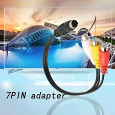 S-Video 7 Pin to 3 RCA Female RGB Component Cable Adapter for DVD TV/HDTV DE