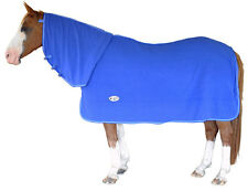 CARIBU Polar Fleece Neck Combo Horse Cooler Rug,  Snug 300sm Fleece. Blue