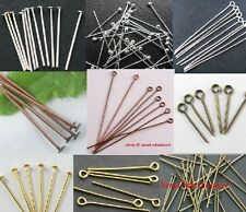 100Pcs Silver Golden Copper Bronze Head/Eye/Ball Pins 21 Gauge Jewelry Finding