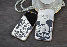 New Mickey Minnie Mouse Mirror Case Cover For iPhone 5 5s i6 6 7 plus Soft Case