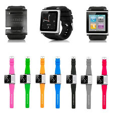Silicone Watch Band Wrist Strap Case Cover Newest For iPod Nano 6  6th Gen CECA