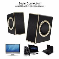 3.5mm Audio USB powered Speakers Stereo Bass Subwoofer for PC Laptop Smartphones