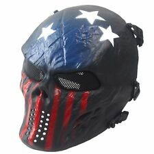 Airsoft Paintball Full Face Metal Mesh Eye Skull Tactical Protection Mask CS X