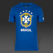 Nike Mens Brazil Brasil CBF Crest T Shirt   Save 33%!!  XL Soccer Football
