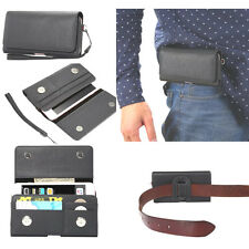 New Universal Leather Belt Pouch Case Cover Holster Belt Clip for Various Mobile