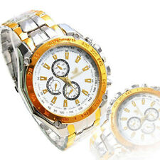 COOL Fashion Mens Watches Stainless Steel Band Analog Quartz Wrist Watch Gift