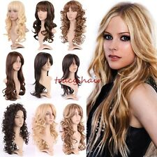 15%off Fluffy Curls Full Wigs Straight Curls Waves Brown Blonde Red Black Wig 5#