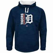 '17 Majestic Authentic OnField Team Icon Therma Base Streak Fleece Hoodie Tigers