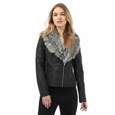 The Collection Womens Black Faux Fur Jacket From Debenhams