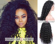 Hot Women's 100 Human Hair Curly Lace Front Wigs Indian Remy Hair Full Lace Wig