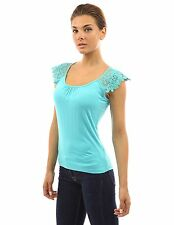 PattyBoutik Women's Floral Lace Crochet Shoulder Sleeveless Top