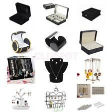 Earrings Cufflink Necklace Watch DIsplay Case Box Bust Stand Jewellery Organizer