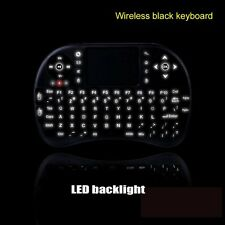Backlight Mini Wireless Keyboard Touchpad Air Mouse For Android Smart TV Box PC