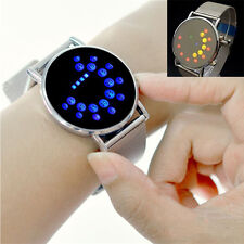 Classic Digital Blue/Colorful LED Sport Wrist Watch Binary Wristwatch Women Mens