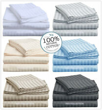 1000TC 100%Egyptian cotton 6 pieces set pillowcase fitted sheet and quilt cover